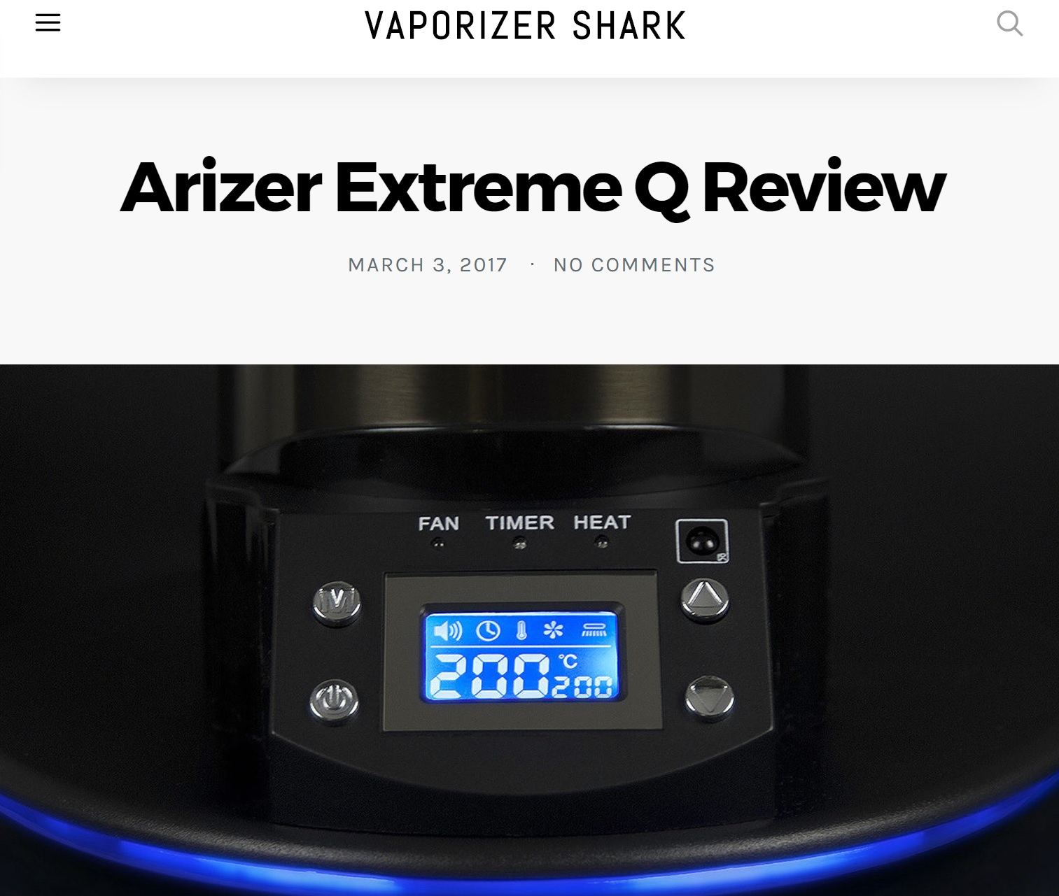 VaporizerShark.com's Arizer Extreme Q Review