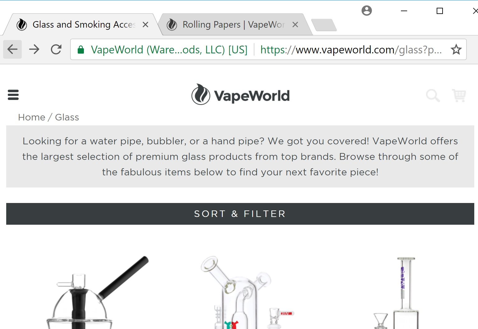 Glass Smoking Devices On Vape World