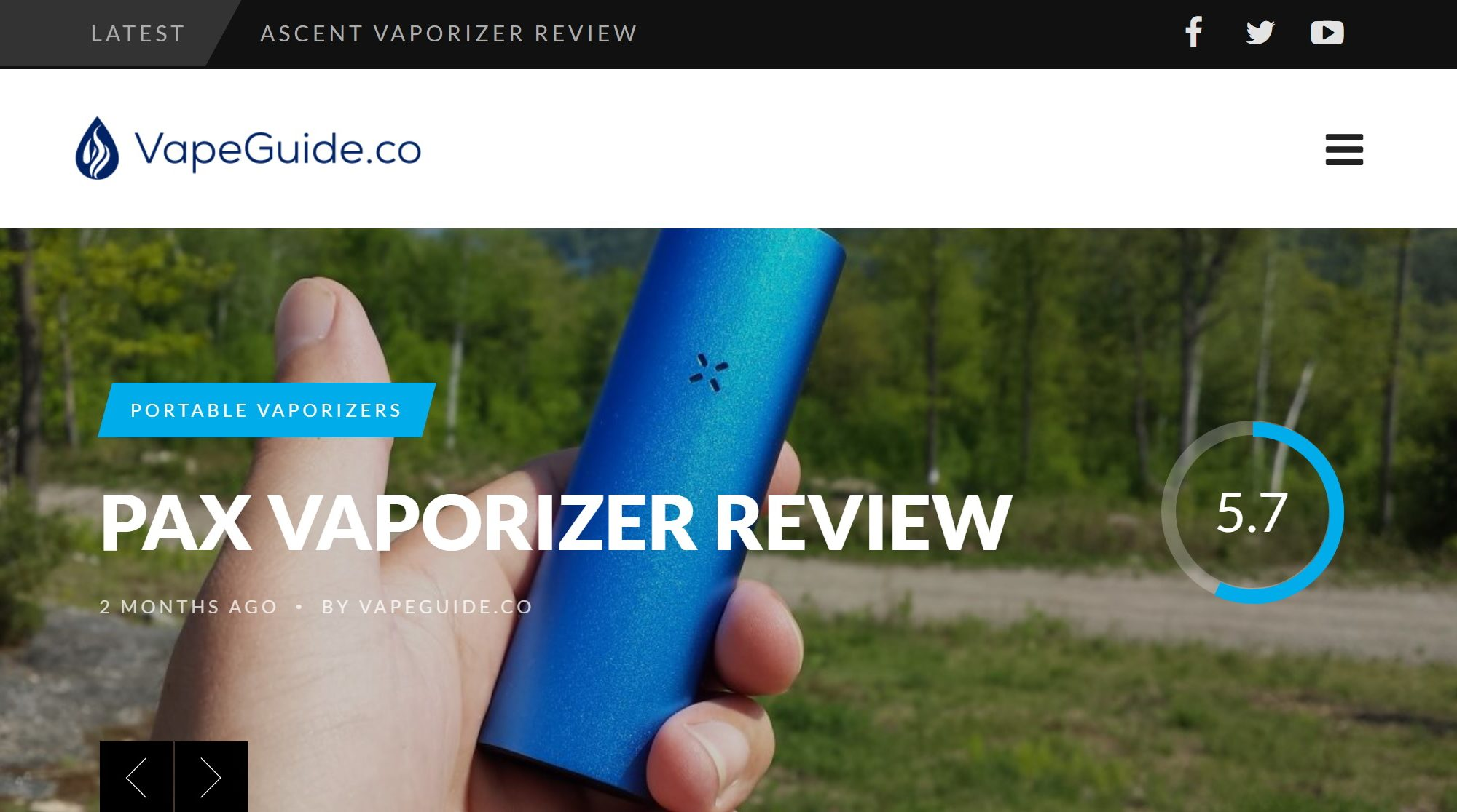 Vape Guide (VapeGuide.co) Website